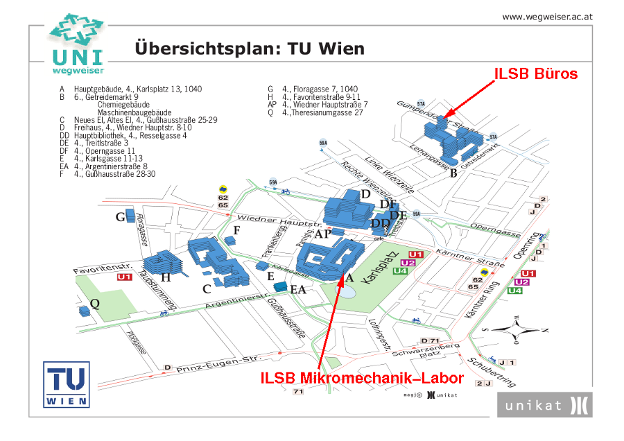 [TU Map - courtesy of UNIKAT]